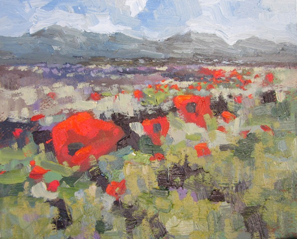"""Mayo Poppies"" SOLD"
