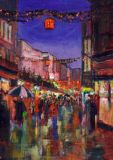 """Christmas Eve,Grafton Street"",  Acrylic"