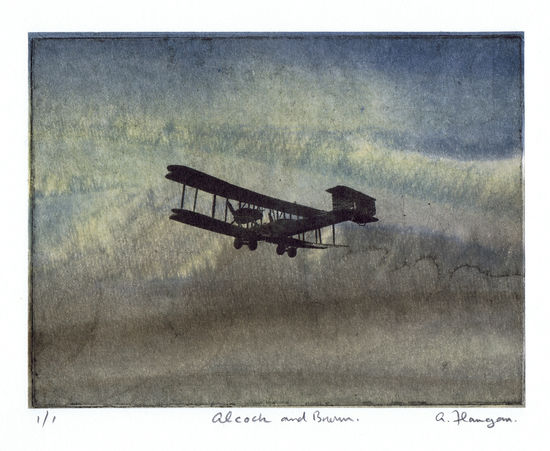 Alcock and Brown print