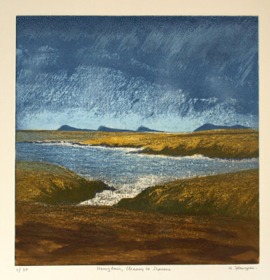 """Heavy rain clearing to showers"" Print"