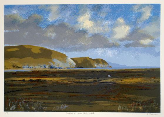 Sunlight at Minaun Cliffs, Achill.