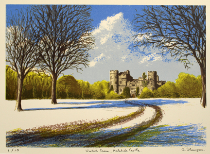 Winter Scene, Malahide Castle.
