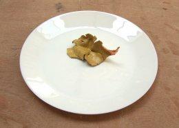 9. Glazed Crank with Copper Leaf