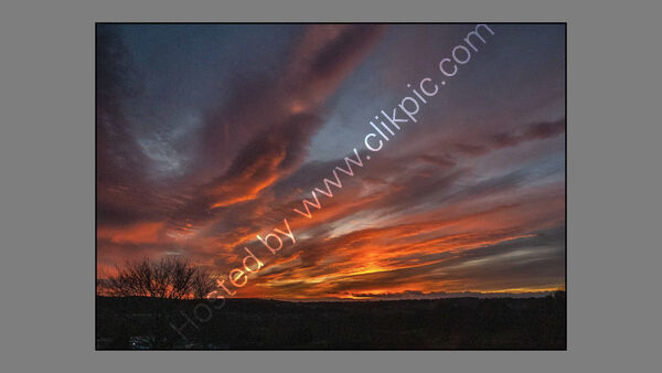 Sunsets and Sunrises - 2nd - John Kennedy - Fire over Farsley