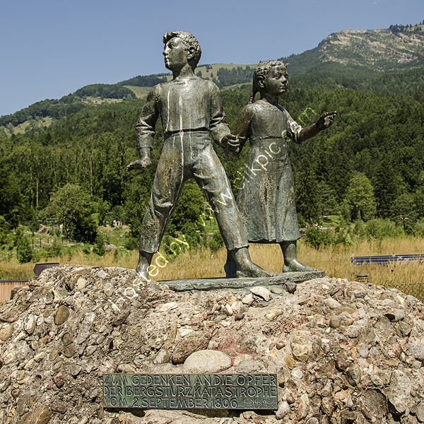 3rd Derek Middleton - Bronze monument to the children who died in the Swiss village of Goldau, destroyed in 1806 by a landslide