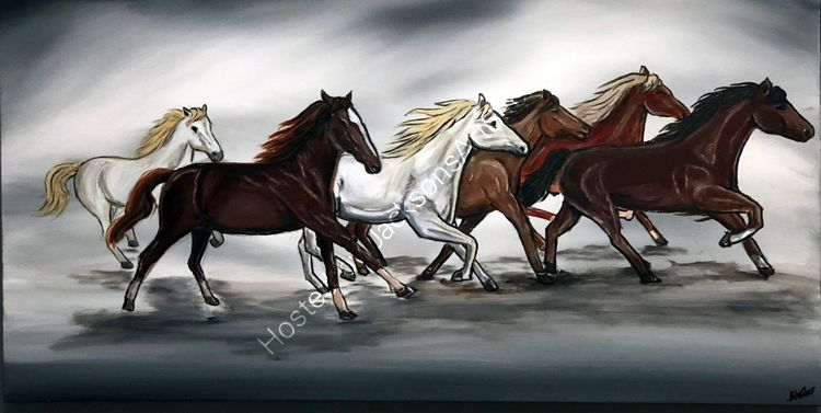 galloping in unison