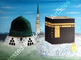 kaaba and mosque