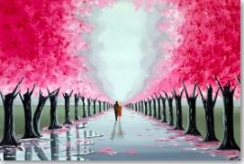 romantic blossom tree walk 4
