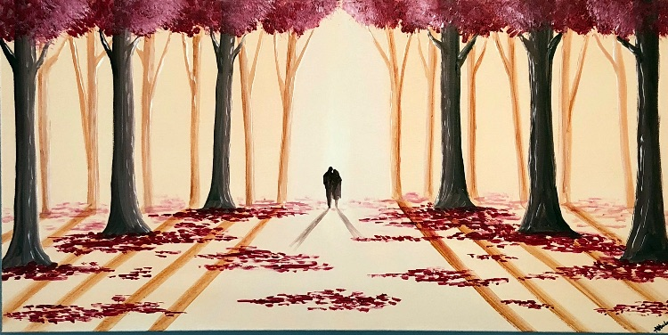 romantic woodland walk