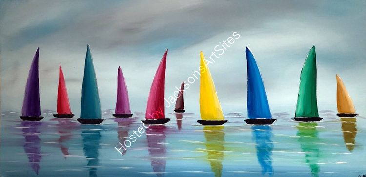 Stormy Colourful Sails 3