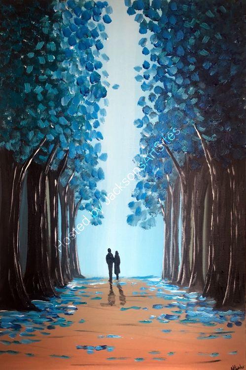through the blue trees 2