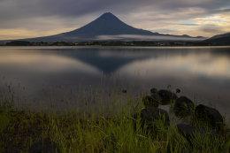 Mt. Fuji overlooking Lake Kawaguchi