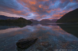 Flames for Sunrise at Lake Wakatipu