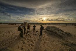 Lake Mungo, Walls of China sunset group