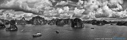 Halong Bay Panorama - Monochrome Version
