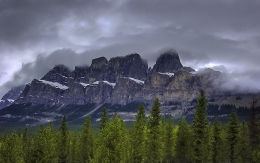 Rocky Mountains, west of Banff