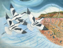Avocets over Benacre. Limited edition print