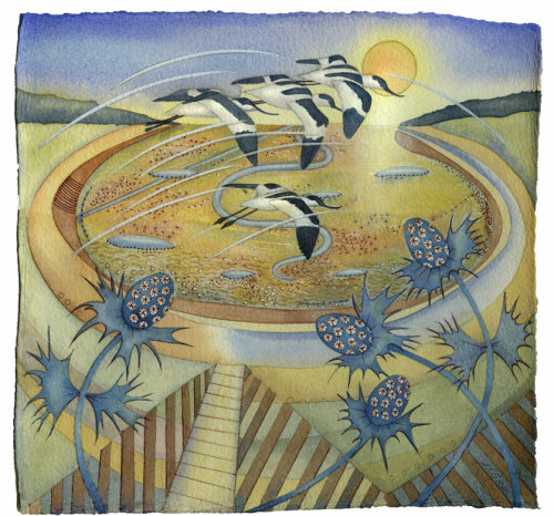 Avocets over the Bay (Giclee print)