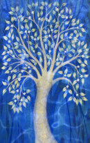 'Blue Chagall Tree'. Digital collage from original paintings