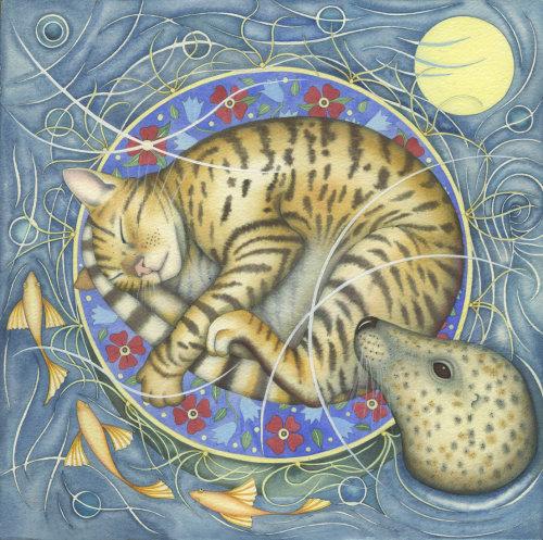 Cat's Cradle. (print and card)