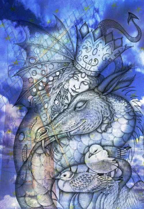 St. Margaret's Dragon (print)