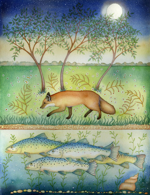 Thought Fox and Fish (print and card)