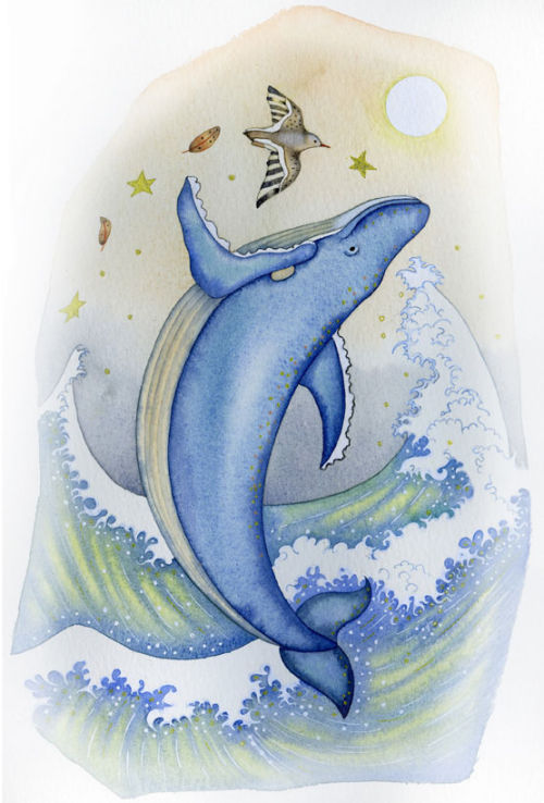 Happy Whale (book illustration)