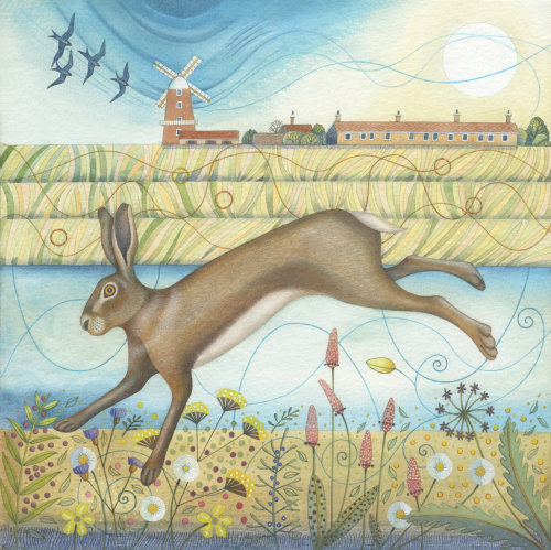 Hare in the Reeds (print)