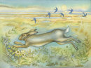 Hare on the Saltmarsh (print and card)