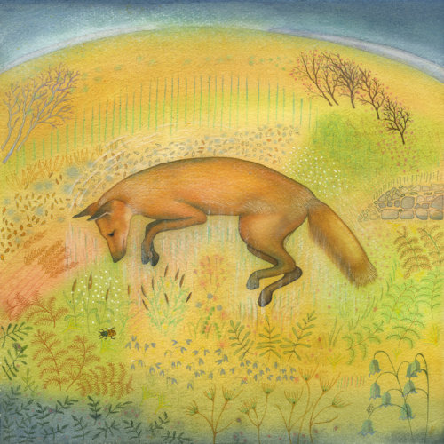 Jumping Fox (print)