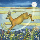 Leaping Deer 30cm x 30cm Limited edition print