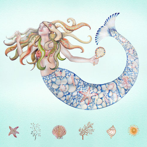 Mermaid (print and card)