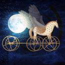 'Moon Chariot' Digital collage from original paintings.