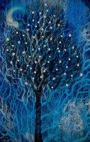 'Night-flowering Tree'. Digital collage from original paintings.
