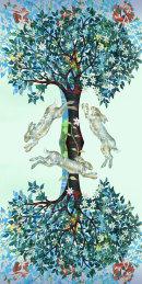 Three Hares (digital collage)