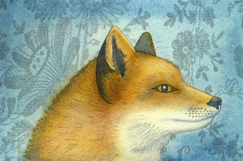 Fox portrait (print and card)