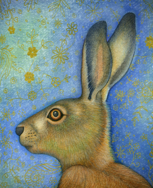Hare portrait (print and card)