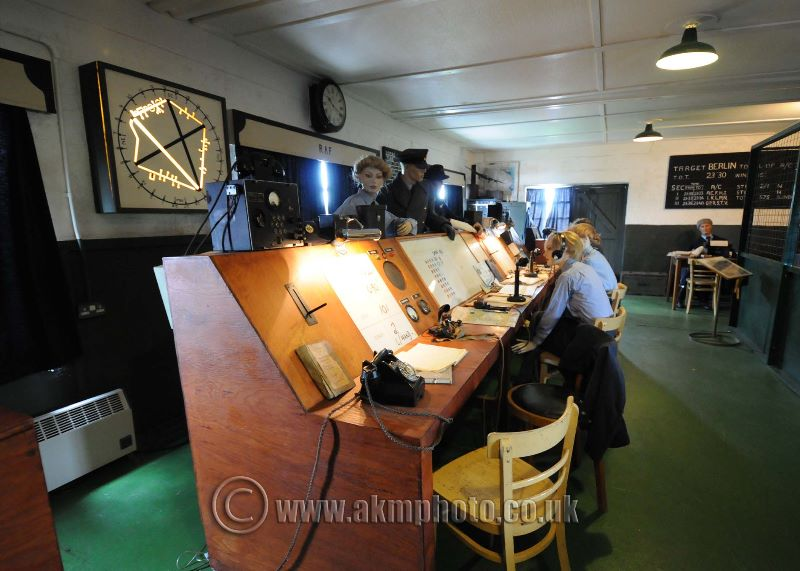 Inside the control tower.