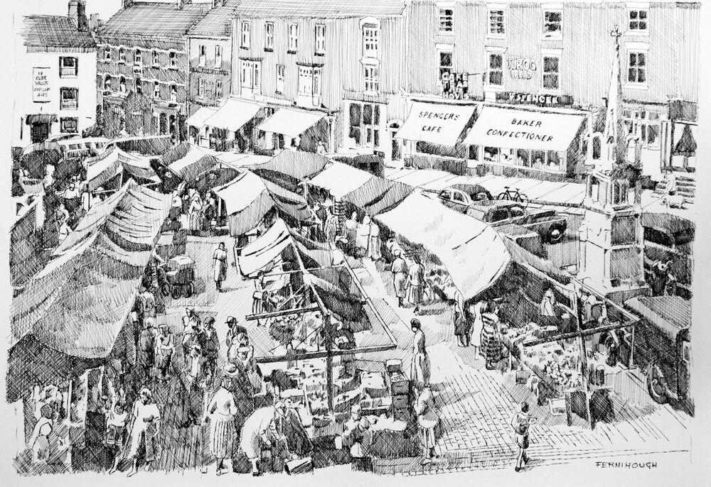 Ashbourne Market Place overhead line
