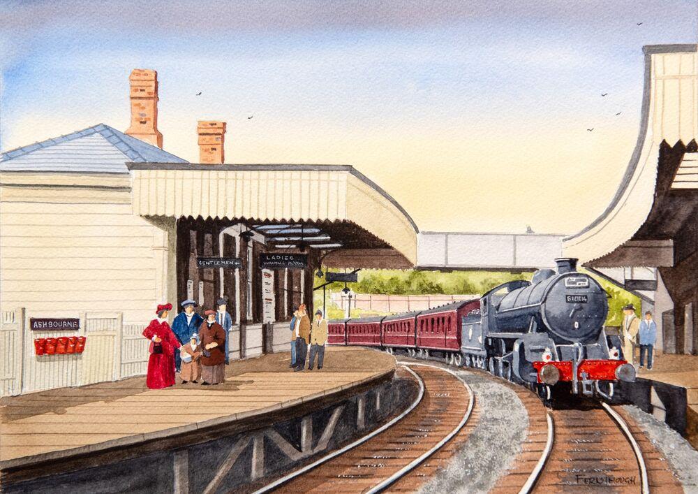 Ashbourne station watercolour