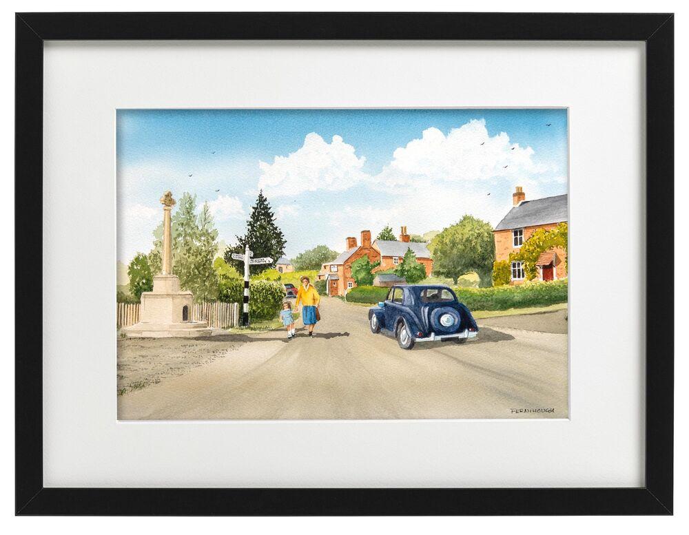 Denstone Village framed