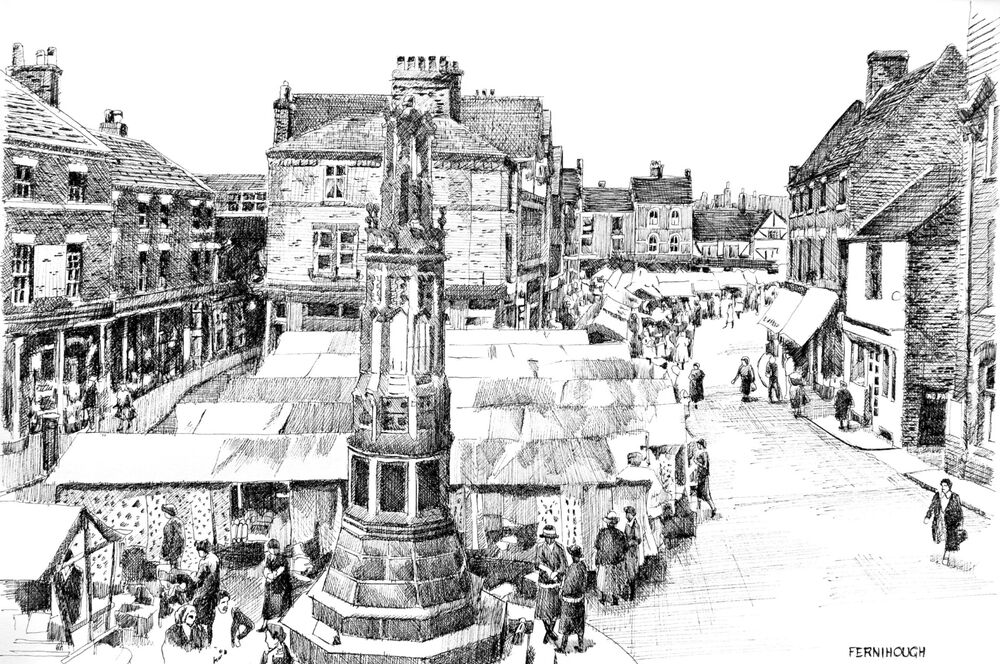 Uttoxeter Market Place overhead 2