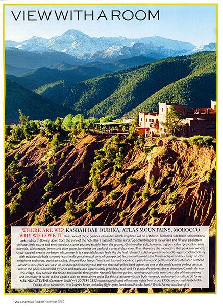 Conde Nast Traveller Magazine.