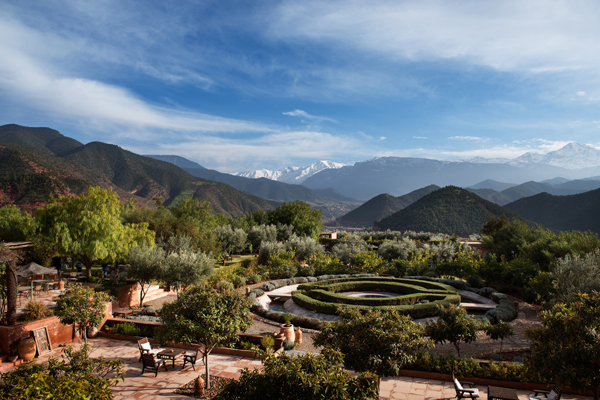Kasbah Bab Ourika garden view