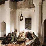 Men in a riad Marrakech
