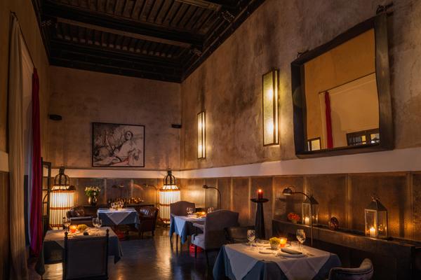 Riad 72 dinning room
