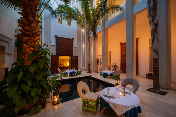 Riad Due courtyard