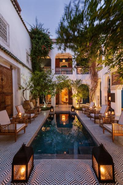 Riad Les Yeux Bleus courtyard