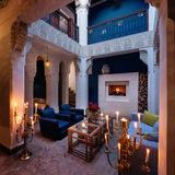 Riad Les Yeux Bleus patio night