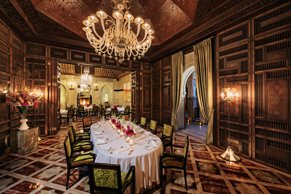 Royal Mansour banquet room